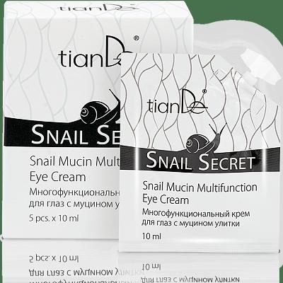 Многофункциональный крем для глаз с муцином улитки