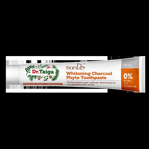 Отбеливающая зубная фитопаста на древесном угле Dr.Taiga
